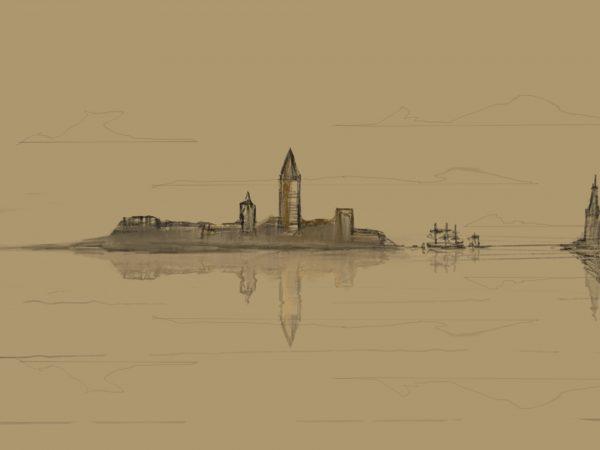 Simple sketch – island